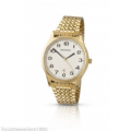 Sekonda 3439 Quartz Analogue Date Gold Plated Stainless Steel Watch